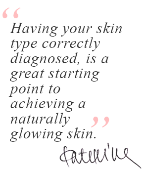 A quote about the importance of the diagnosis of skin type in skin science
