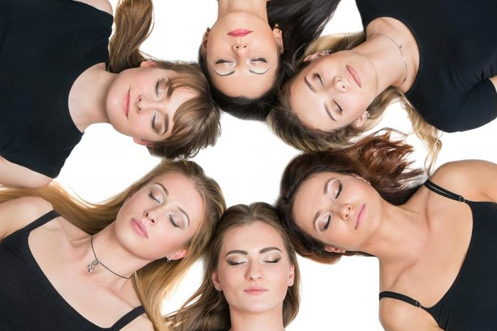 A photograph to illustrate Yoga-Parties by Dr Katerina Steventon FaceWorkshops Clinic