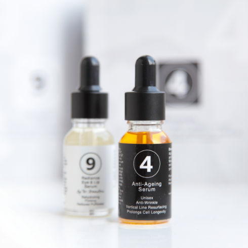 Skincare product 9 Radiance Eye and Lip Serum and 4 Anti-Ageing Serum sample pack from Dr Katerina Steventon