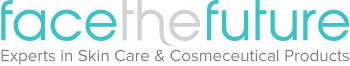 The logo of Face the Future, a stockist of my serums
