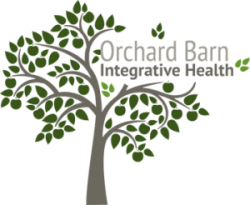 The logo of Orchard Barn Integrated Health, a stockist of my serums