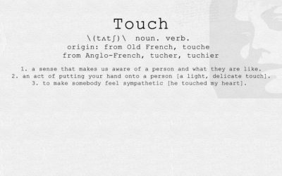 Banner image showing the dictionary definition of the word touch